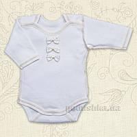 Боди с длинным рукавом для малышей Бантик Бетис интерлок 56