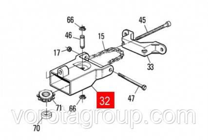 Корпус натяжителя ланцюга шини SPIDO/SPIDER (PPD1896.4540)