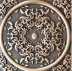 Декоративная вставка для пола Absolut Keramika 1458 BRSA FLORESTA BRASS 8x8, фото 2