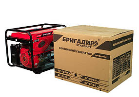 Бензиновый генератор Бригадир Standart БГ-603H, 3-фазный (6kw)
