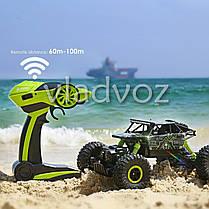 Джип машинка на радио пульте управлении Rock Crawler 4x4 RC зелёный 1:18, фото 3