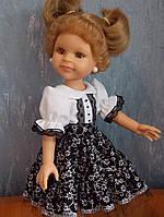 Одежда для куклы Paola Reina 32см (костюм: блуза + юбка + туфли)