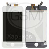 Дисплей (экран) для APPLE iPod Touch 4G, белый, с тачскрином