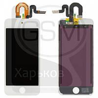 Дисплей (экран) для APPLE iPod Touch 5G, белый, с тачскрином