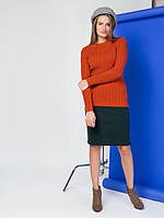 Женский вязаный свитер фактурной вязки Berger (разные цвета)