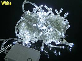 "Гирлянда ""Линза"" LLP 100 led (цвет белый) провод прозрачный 6м"