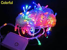"Гирлянда ""Линза"" LLP 100 led (цвет мульти) провод прозрачный 6м"