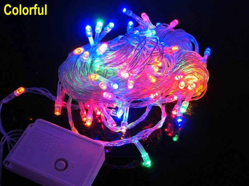 "Гирлянда ""Линза"" LLP 200 led (цвет мульти) провод прозрачный 12м"