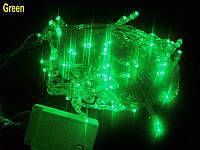 "Гирлянда ""Линза"" LLP 200 led (цвет зеленый) провод прозрачный 12м"