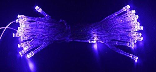 """Гирлянда """"Линза"""" LLP 200 led (цвет фиолетовый) провод прозрачный 12м"""