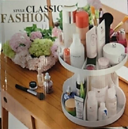 Подставка, органайзер для косметики круглая style classic fashion, фото 2