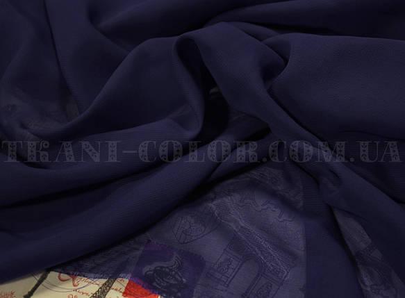 Ткань шифон темно-синий, фото 2