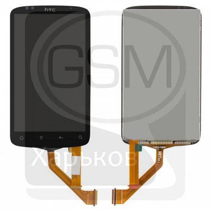 Дисплей (экран) для HTC S510e Desire S, черный, с тачскрином, с узким шлейфом, фото 2
