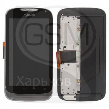Дисплей (экран) для Huawei U8680, черный, с передней панелью, с тачскрином, фото 2