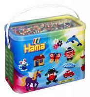 Бусины для термомозаики 30000 шт 22 цвета диаметр 5мм Hama 208-67
