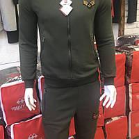 """Тёплый хлопковый спортивный костюм в стиле """"милитари"""", производство Турция, Томи Лайф."""