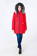 Женская зимняя куртка большие размеры (красный)