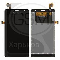 Дисплей (экран) для Lenovo K860, черный, с тачскрином, BTL507212-W575L