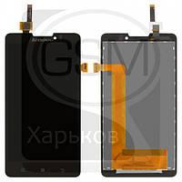 Дисплей (экран) для Lenovo P780, черный, с тачскрином, YT50F105C0-GR, BL50F105W0-B-F