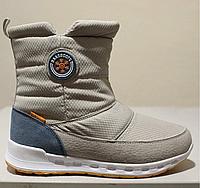 Женские зимние ботинки дутики BaaS Boots бежевые