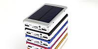 Внешний аккумулятор Solar Power Bank 15000 mAh, Повербанк с солнечной батареей