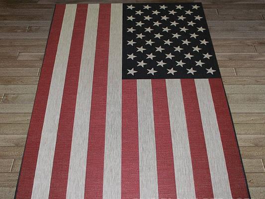 """Коврик - рогожка Сизаль """"Американский флаг"""". Ковер-рогожка цена"""