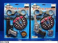 Полицейский набор 1414-5 (192шт/2) 2 вида, на планшетке 22*31см
