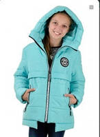 Куртка зимняя для девочки голубой электрик