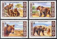 Монголия 1998 медведи MNH XF