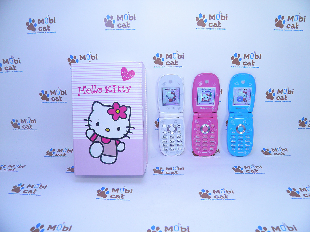 Детский телефон раскладушка Hello Kitty W88