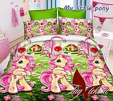 Комплект постельного белья 100% хлопок My little pony евро размер