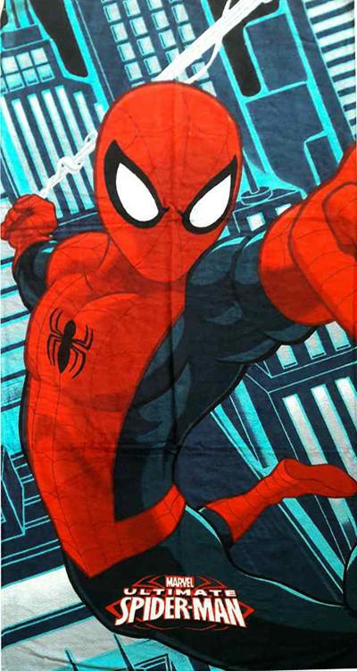 Полотенце детское для душа Spider-Man №2 для бассейна 150х75 Спайермен человек-паук