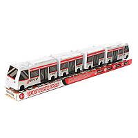 Паровозик 8026 (48шт) 3 вагона, ездит, звук, свет, на бат-ке, в слюде, 54,5-7-8,5 см