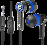 Гарнитура для смартфонов Defender Pulse 420 черный + синий, фото 1