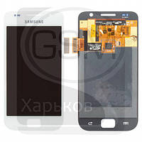 Дисплей (экран) для SAMSUNG GT-i9000 Galaxy S, GT-i9001 Galaxy S Plus, белый, с тачскрином