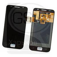 Дисплей (экран) для SAMSUNG GT-i9000 Galaxy S, GT-i9001 Galaxy S Plus, черный, с тачскрином