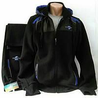 Натуральный зимний спортивный прогулочный костюм Турция-Soccer, чёрный,  размер 46, 52.