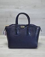 Молодежная женская сумка Живанши синяя кобра
