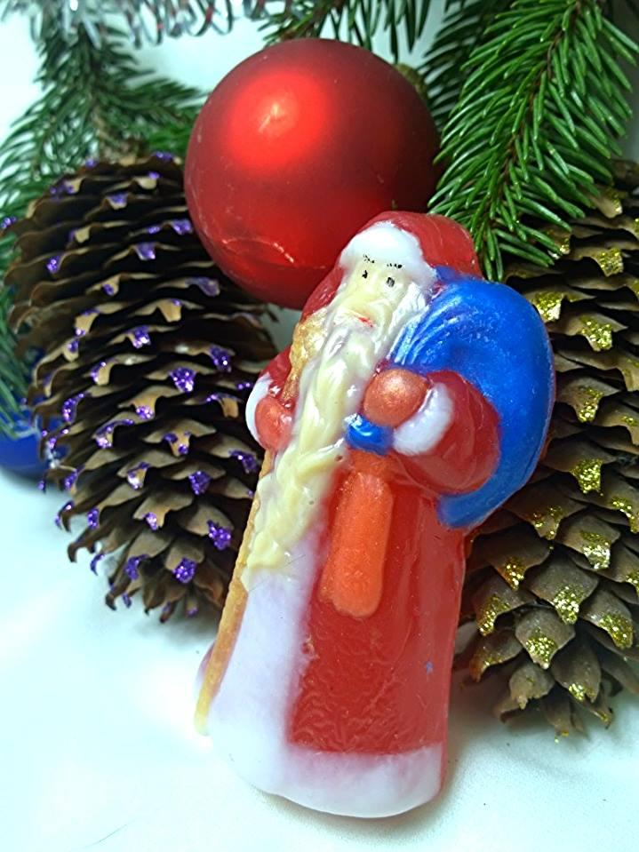"""Глицериновое мыло """" Дед Мороз""""."""