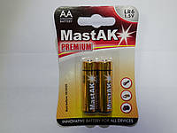 "Батарейка пальчиковая Mastak ""Premium"" AA LR6"