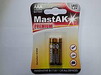 "Батарейка пальчиковая Mastak ""Premium"" AAA LR03"