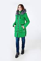 Женская стильная куртка зима (зеленый)