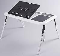 Cтолик для ноутбука с охлаждением 2 USB кулерами LD 09 E-TABLE, подставка столик для ноутбука