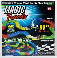 Magic Tracks на 220 деталей + машинка ПОДАРОК!!! Оригинал!!! Трек Светится! АКЦИЯ!!!, фото 3