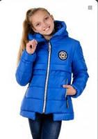Куртка зимняя для девочки синяя