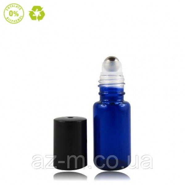 Флакон Роллер стеклянный синий, 5 мл