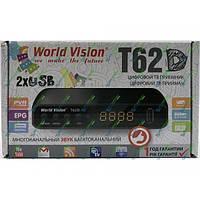 ТВ-ресивер цифровой эфирный World Vision T62D DVB-T2 WI-FI адаптер