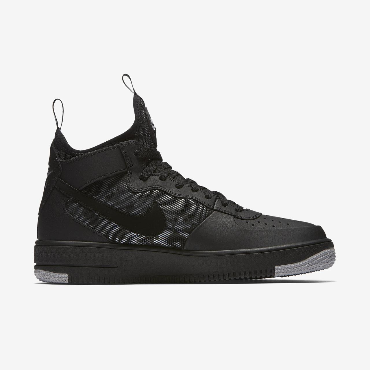 473c1aa8551ec3 Оригинальные Кроссовки Nike Air Force 1 Ultraforce Mid Black / Gray ...