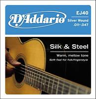 D'Addario EJ40 комплект струн для акустической гитары 11-47