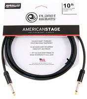 Planet Waves PWAMSG10 кабель для электрогитары J6,3 - J6,3 (3m)